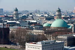 View over rooftops of Berlin towards classical towers of Gendarmenmarket 2009
