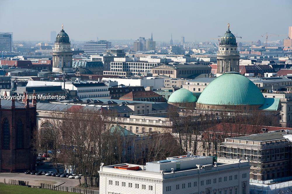 View over rooftops of Berlin towards classical towers of Gendarmenmarket 2009