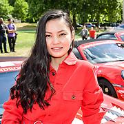 Alina Coughlan from Kazakhstan attend Cash & Rocket Photocall at Wellington Arch, on 6 June 2019, London, UK