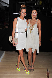 Left to right, TESS DALY and YASMIN MILLS at the 2012 Rodial Beautiful Awards held at The Sanderson Hotel, Berners Street, London on 6th March 2012.
