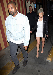 Kim Kardashian and husband Kanye West were seen leaving Kim's 37th Birthday Family and friends dinner at the 'Carousel' Lebanese and Armenian Restaurant in Los Feliz, CA. 26 Oct 2017 Pictured: Kanye West, Kim Kardashian. Photo credit: MEGA TheMegaAgency.com +1 888 505 6342