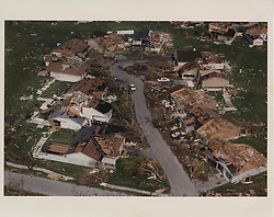 September 7, 2017 - FL, USA - Aerial view of Hurricane Andrew destruction at Country Walk in August 1992. This image was used as the cover photo for The Miami Herald book on the subject, ''The Big One. (Credit Image: © Tim Chapman/TNS via ZUMA Wire)