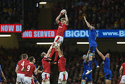 February 1, 2020, Cardiff, Wales, United Kingdom: AARON WAINWRIGHT goes up for ball during Wales vs Italy, Six Nations Rugby in Cardiff. (Credit Image: © Massimiliano Carnabuci/IPA via ZUMA Press)