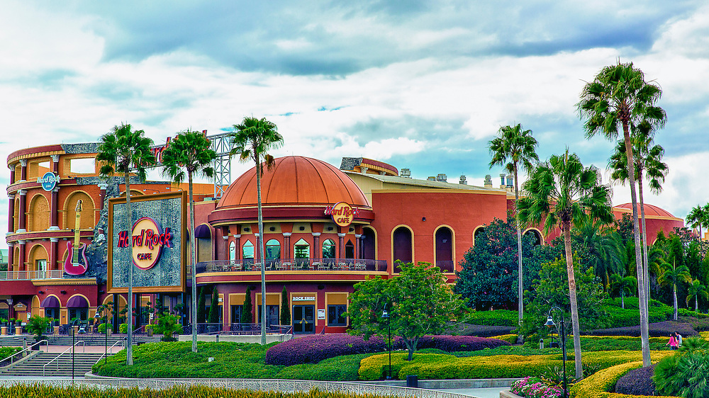 Took this photo of the Hard Rock Cafe at Universal Studios while on vacation in Orlando, Florida with my lovely wife.