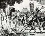 The Mennonite Anna Hendrick is (on November 10, 1571), Amsterdam, thrown into the fire.