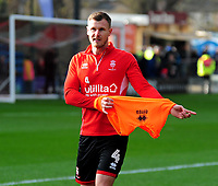 Lincoln City's Michael O'Connor during the pre-match warm-up<br /> <br /> Photographer Andrew Vaughan/CameraSport<br /> <br /> The EFL Sky Bet League Two - Lincoln City v Mansfield Town - Saturday 24th November 2018 - Sincil Bank - Lincoln<br /> <br /> World Copyright © 2018 CameraSport. All rights reserved. 43 Linden Ave. Countesthorpe. Leicester. England. LE8 5PG - Tel: +44 (0) 116 277 4147 - admin@camerasport.com - www.camerasport.com