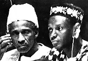 Dr John Karefa-Smart (right) Sierra Leone's first Foreign Minister, with Sir Milton Augustus Strieby Margai (1895-1964)  Sierra Leonean politician and the first prime minister of West African republic of Sierra Leone.