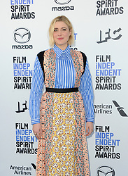 Greta Gerwig at the 35th Annual Film Independent Spirit Awards held at the Santa Monica Beach in Santa Monica, USA on February 8, 2020.