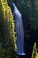 Martha Falls at Mount Rainier National Park in Washington State, USA