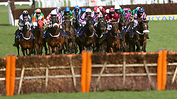 Runners and riders during the Pertemps Network Final Handicap Hurdle