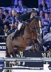 Duguet Romain, (FRA), Quorida de Treho <br /> Longines FEI World Cup presented by Landrover<br /> Vlaanderen Kerstjumping - Memorial Eric Wauters - <br /> Mechelen 2015<br /> © Hippo Foto - Dirk Caremans<br /> 30/12/15