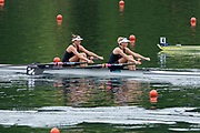 Lucerne, SWITZERLAND. Women's Double Scull, Semi Final A/B,  NZL W2X Bow Eve Macfarlane, Zoe Stevenson, BLR 2X Bow Yuliya Bichyk, Tatsiana Kukhta, CHN1 Bow Yang lyu, Weiwei Zhu, CHN2 W2X Bow Jie Wang, Xiaoxing Shen, 2016 FISA WCII. Lake Rotsee, Saturday  28/05/2016<br /> [Mandatory Credit; Peter SPURRIER/Intersport-images]