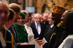 The Duke and Duchess of Sussex at the Commonwealth Service at Westminster Abbey, London on Commonwealth Day. The service is the Duke and Duchess of Sussex's final official engagement before they quit royal life.