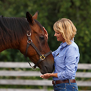 20140811 Low Res Woman in Paddock with Horse