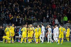 Slovenian team and Ukraine team fighting during the UEFA EURO 2016 Play-off for Final Tournament, Second leg between Slovenia and Ukraine, on November 17, 2015 in Stadium Ljudski vrt, Maribor, Slovenia. Photo by Ziga Zupan / Sportida