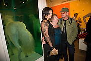 ALI HEWSON; LANA DUNPHY; BONO, Damien Hirst party to preview his exhibition at Sotheby's. New Bond St. London. 12 September 2008 *** Local Caption *** -DO NOT ARCHIVE-© Copyright Photograph by Dafydd Jones. 248 Clapham Rd. London SW9 0PZ. Tel 0207 820 0771. www.dafjones.com.