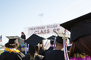 The Cal Hills Class of 2012 receives their diplomas at graduation on June 15, 2012, held at Milpitas High School, Milpitas, Calif.  Photo by Stan Olszewski/SOSKIphoto.