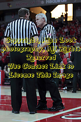 22 January 2014:  Randy Heimerman & Thomas Eades during an NCAA Missouri Valley Conference mens basketball game between the Shockers of Wichita Stat and the Illinois State Redbirds  in Redbird Arena, Normal IL.