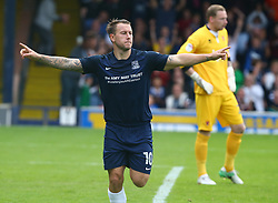 September 30, 2017 - Southend, England, United Kingdom - Simon Cox of Southend United celebrates scoring his sides second goal .during Sky Bet League one match between Southend United against Blackpool at  Roots Hall,  Southend on Sea England on 30 Sept  2017  (Credit Image: © Kieran Galvin/NurPhoto via ZUMA Press)