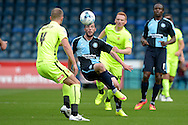 Michael Harriman of Wycombe Wanderers (c) in action. Skybet football league two match, Wycombe Wanderers v Hartlepool Utd at Adams Park in High Wycombe, Bucks on Saturday 5th Sept 2015.<br /> pic by John Patrick Fletcher, Andrew Orchard sports photography.