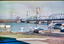 High Water, Illinois River at Pekin IL  April 2, 1960<br /> <br />  Photos taken by George Look.  Image started as a color slide.