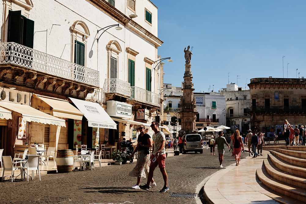 A view of Ostuni, Italia. September 28, 2019.