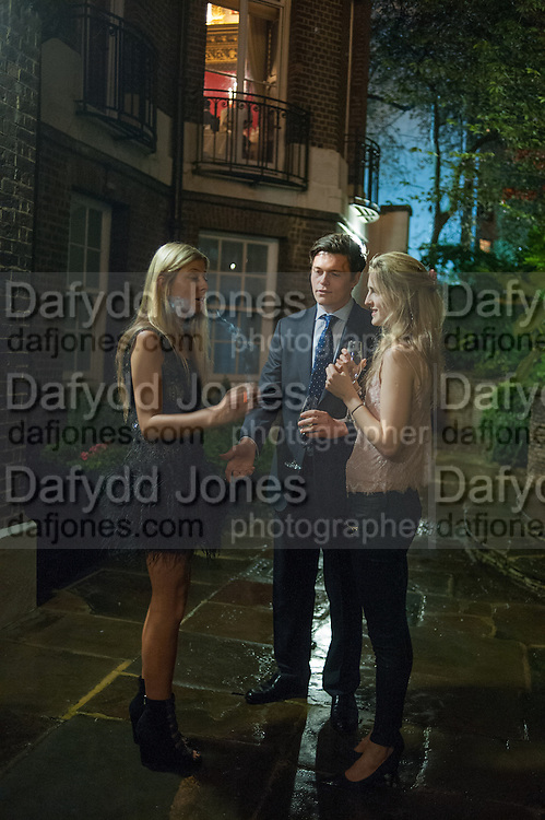 SOPHIA AKROYD; HARRY WYNN-WILLIAMS; CLEMMIE ST. JOHN WEBSTER, Tatler magazine Jubilee party with Thomas Pink. The Ritz, Piccadilly. London. 2 May 2012