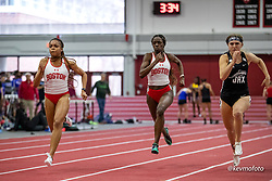 Harvard University<br /> Crimson Elite Indoor track & field meet<br /> womens 60m aualifying, Ritter, Phillips