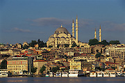 Süleymaniye Mosque overlooks the waters of the Golden Horn, in Istanbul, Turkey, on June 16, 2006.