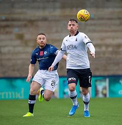 Raith Rovers John Baird and Falkirk's Michael Doyle. Raith Rovers 2 v 2 Falkirk, Scottish Football League Division One played 5/9/2019 at Stark's Park, Kirkcaldy.