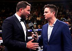 Promoter Eddie Hearn (left) speaks to Dazn at Madison Square Garden, New York.