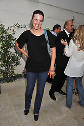 VICTORIA AITKEN at a garden party hosted by Piaget at The Hempel Hotel, London on 14th July 2011.