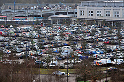 © Licensed to London News Pictures.22/12/2017.<br /> Greenhithe, UK.<br /> The car parks are already filling up at Bluewater this morning 10am as Christmas shoppers make an early start.<br /> Frantic Friday Christmas shopping at Bluewater,Kent.<br /> Photo credit: Grant Falvey/LNP
