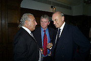 SIR PHILIP GREEN; STEPHEN QUINN; NICHOLAS COLERIDGE, Vogue's Celebration of Fashion Dinner in association with Creme de la Mer. the Albermarle, Browns Hotel. Albermarle st. London. 18 September 2008. *** Local Caption *** -DO NOT ARCHIVE-© Copyright Photograph by Dafydd Jones. 248 Clapham Rd. London SW9 0PZ. Tel 0207 820 0771. www.dafjones.com.