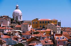 PORTUGAL LISBON MAY99 - View on the Alfama district from below the Castelo.....jre/Photo by Jiri Rezac....© Jiri Rezac 1999....Tel:   +44 (0) 7050 110 417..Email: info@jirirezac.com..Web:   www.jirirezac.com