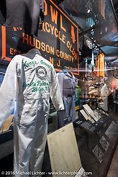 MC club uniform display at the Harley-Davidson Museum during the Milwaukee Rally. Milwaukee, WI, USA. Saturday, September 3, 2016. Photography ©2016 Michael Lichter.