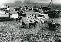 1898 Harvesters at work on the Van Nuys Ranch