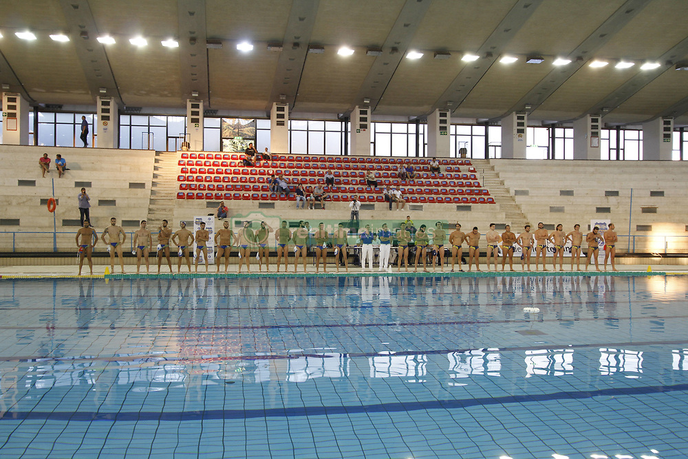 June 14, 2017 - Campania/Napoli, Italy - Final playoff of water polo.This evening at the scandal pool in Naples, Cesarean team Giuseppe Esposito's partisan team from Italy is playing the final for access to the A2 national national volleyball league championship against the Catania team woter polo (Credit Image: © Fabio Sasso/Pacific Press via ZUMA Wire)