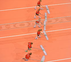 20150619 NED: World League Nederland - Portugal, Groningen<br /> De Nederlandse volleyballers hebben in de World League ook hun eerste duel met Portugal met 3-0 gewonnen / Vloermoppers, item volleybal