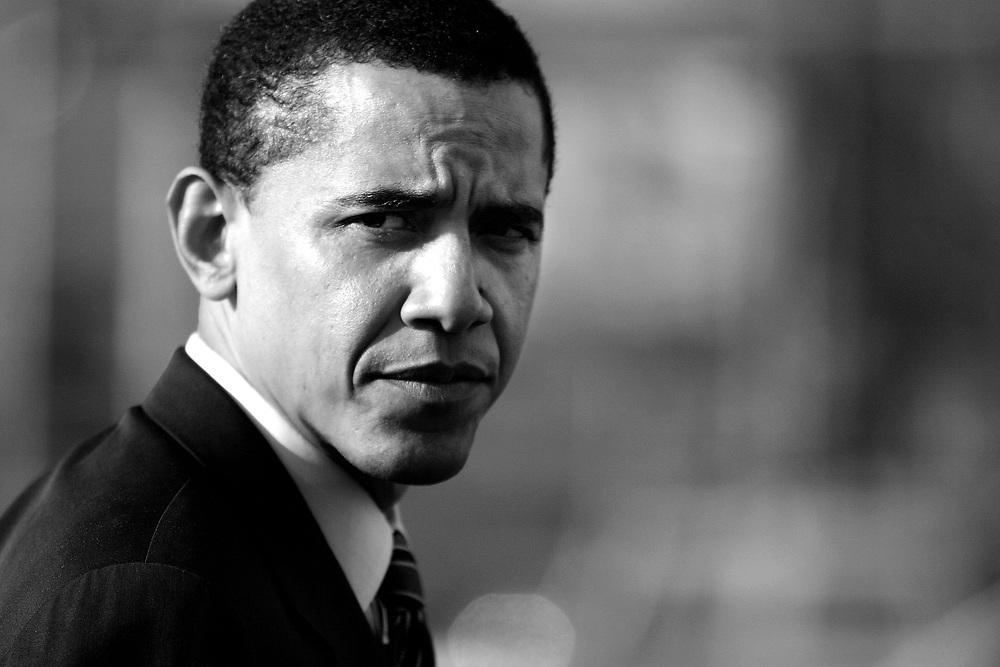 Illinois State Senator and U.S. Senate candidate Barack Obama campaigns in Chicago...