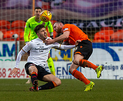 Partick Thistle's Dario Zanatta and Dundee United's Mark Connolly. Dundee United 1 v 1 Partick Thistle, Scottish Championship game played 7/3/2020 at Dundee United's stadium Tannadice Park.