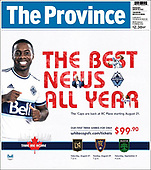 August 18, 2021 - CANADA: Front-page: Today's Newspapers In Canada