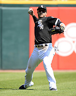 CHICAGO - MAY 14:  Nicky Delmonico #30 of the Chicago White Sox fields against the Cleveland Indians on May 14, 2019 at Guaranteed Rate Field in Chicago, Illinois.  (Photo by Ron Vesely)  Subject:  Nicky Delmonico
