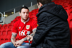 Lee Tomlin is interviewed at Ashton Gate after joining Bristol City on loan from AFC Bournemouth - Mandatory byline: Rogan Thomson/JMP - 27/01/2016 - FOOTBALL - Ashton Gate Stadium - Bristol, England - Bristol City New Signings.