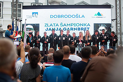 during PZS reception of Slovenian national climbing team after IFSC Climbing World Championships in Hachioji (JPN) 2019, on August 23, 2019 at Ministry of Education, Science and Sport, Ljubljana, Slovenia. Photo by Grega Valancic / Sportida