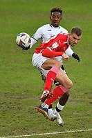 Football - 2020 / 2021 Sky Bet Championship - Swansea City vs Barnsley - Liberty Stadium<br /> <br /> <br /> Herbie Kane of Barnsley  & Jamal Lowe of Swansea<br /> <br /> COLORSPORT/WINSTON BYNORTH