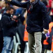 Besiktas's coach Samet Aybaba during their Turkish superleague soccer derby match Galatasaray between Besiktas at the TT Arena at Seyrantepe in Istanbul Turkey on Sunday, 27 January 2013. Photo by Aykut AKICI/TURKPIX
