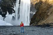 Self-Portrait at Skogafoss, Southern Iceland
