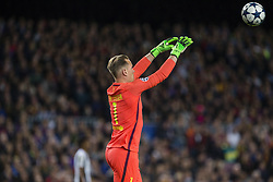April 19, 2017 - Barcelona, Spain - Marc Andre Ter Stegen of FC Barcelona during the UEFA Champions League Quarter Final second leg match between FC Barcelona and Juventus at Camp Nou Stadium on April 19, 2017 in Barcelona, Spain. (Credit Image: © NurPhoto via ZUMA Press)