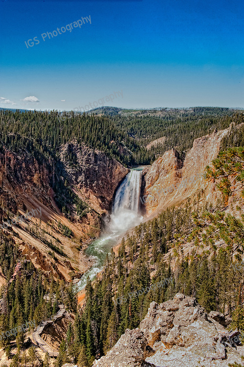 Lower Falls and Yellowstone Grand Canyon seen from Artist's Point